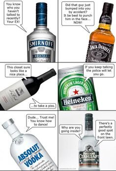 What alcohol says after a little too much! lol