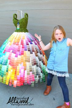 It's fun and easy to make art out of paint chips or swatches! For a recent Home Show, I made a paint mannequin from a dress form and several paint decks! Mannequin Christmas Tree, Recycling, Blonde Moments, Mannequin Art, Paint Samples, Recycled Fashion, Dress Out, Paint Chips, Wearable Art