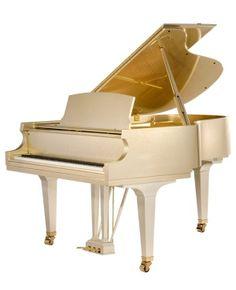 Baldwin Glitz & Glamour piano with gold finish and gold trim. Beautiful!