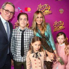 Sarah Jessica Parker and Family at Broadway Play April 2017