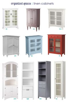 Bathroom Linen Cabinets freestanding cabinet for craft & linen storage | linen spray