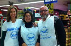 Colaborando con el BANCO DE ALIMENTOS en la campaña nacional de recogida de alimentos