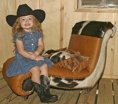 $699.95  Lil' Dumplin' Cowgirl Chaise