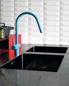 colourful kitchen tap  #blue #kitchen #tapware