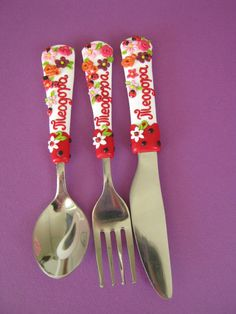 Personalized Baby Spoons Baby Gift Baby Shower by cutlerydesignJS