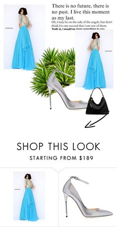 """""""Beaded Straps Long Turquoise Sherri Hill 9728 Homecoming Dress"""" by homecomingqueendress ❤ liked on Polyvore featuring Sherri Hill, Jimmy Choo, Michael Kors, Prom, dress, cocktail, evening and Homecoming"""
