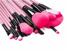 Makhry Professional Makeup Brush Set 24 Pieces Cosmetics Brush Kit with Travel Pouch, Foundation Blusher Power Foundation (24 Piece) *** You can find more details by visiting the image link.
