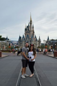 Announcing our pregnancy at Disney World! #babythorud2016