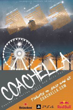 "Local Event Poster - ""Coachella"" Music Festival on Behance"