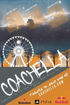 "Local Event Poster - ""Coachella"" Music Festival on Behance Festival Logo, Festival Posters, Concert Posters, Theatre Posters, Gig Poster, Movie Posters, Coachella Poster, Festival Coachella, Type Posters"
