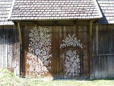 Painted Barn, Zalipie Poland. Want this on our garden shed.
