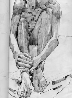 """""""Imna"""" ( graphite on paper, 70 x 50 cm )/ by Eileen Healy"""