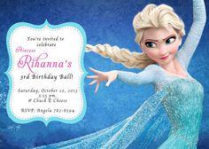 Frozen Birthday Invitation on Etsy, $14.00
