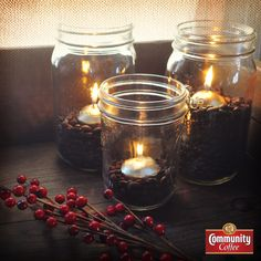 Celebrate by #coffee candlelight!