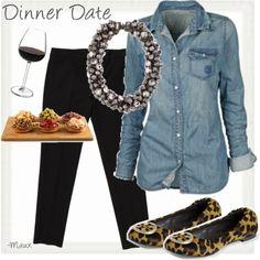 denim shirt + leopard flats - Want to save 50% - 90% on women's fashion? Visit http://www.ilovesavingcash.com