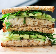 Smashed White Bean and Avocado Sandwich | 23 Healthy Lunch Sandwiches That Will Make You A Champion At Life