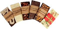 Zoe's handcrafted chocolate bars are designed to appeal to the senses--visually stunning in their simplicity with spectacularly delicious and natural flavor combinations. Chocolate Heaven, Chocolate Bark, Chocolate Molds, How To Make Chocolate, Homemade Chocolate, Chocolate Making, Chocolate Bar Wrappers, Chocolate Packaging, Candy Packaging