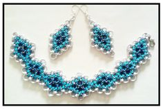 "MP Jewelry - Bijuterii Handmade: Set ""Blue Diamonds"""