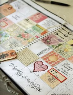 Do Something Creative Everyday - I love this idea of using a planner and making something in each day's block and around the edges!