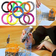 3d Filament Fun Pack - Perfect Size for 3d Pens!!- 1.75mm ABS - 15 Yards Total of 11 Different Colors ** Details can be found by clicking on the image. http://www.amazon.com/gp/product/B01FUREYYA/?tag=gadgets3638-20&pxy=260916023743