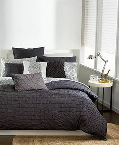Bar III Bedding, Box Pleat Carbon Collection - Bedding Collections - Bed & Bath - Macy's