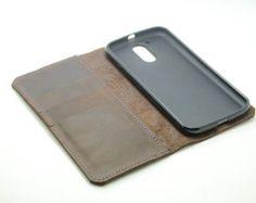 Leather google Nexus 5X Wallet Case Leather by jinapplehandmade