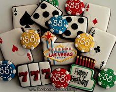 Las Vegas Themed Birthday Cookies, by Ocookieo www.facebook.com/ocookieo.jo