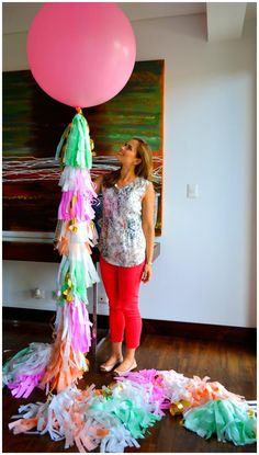 DIY: Geronimo Balloons | The Housewife Wannabe. I seriously have to make a couple of these babies.