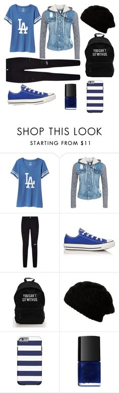 """""""Outfit #4"""" by screepted ❤ liked on Polyvore featuring Old Navy, NLY Trend, Frame Denim, Converse and NARS Cosmetics"""
