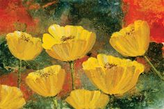 Yellow Pops II by Angellini Painting Print on Wrapped Canvas