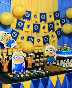 Despicable Me Minions Kids Party Simons 2nd Birthday Pinterest