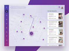 Find restaurants near by by Paresh Khatri on Dribbble Dashboard Interface, Dashboard Design, App Ui Design, Mobile App Design, User Interface Design, Map Design, Ui Ux, Design Web, Le Web