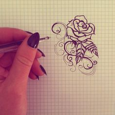 Simple rose tattoo design by KaylieLou.deviantart.com on @deviantART