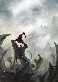 Skyrim, Deadra, dragons, awesome