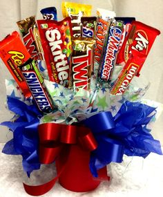 Making candy bouquets can be fun and very profitable. It's a very low cost and high profit business - http://sweetshotmemory.blogspot.com