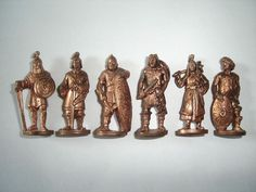 METAL FIGURINES SET INDIANS CHIEFS BRONZE VINTAGE KINDER SURPRISE MINIATURES