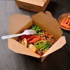 Western-style food kraft paper box Disposable lunch box packing box of pasta Takeaway box Internal PE film Fast Casual Restaurant, Casual Restaurants, Disposable Lunch Boxes, Rice Box, Food Packaging Design, Street Food, Asian Recipes, Food Photography, Food And Drink