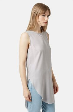 Topshop Curved Hem Tunic available at #Nordstrom