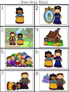 Teacher Binder, Picture Cards, Retelling, Teacher Newsletter, Kids Learning, Castles, Dragons, Fairy Tales, Snow White