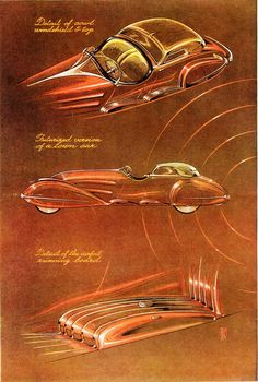 Automotive Designs by Alexis de Sakhnoffsky, 1934