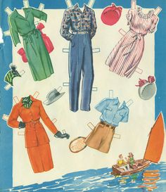 The Summer Date Paper Dolls are Saalfield #2587 from the year 1948.