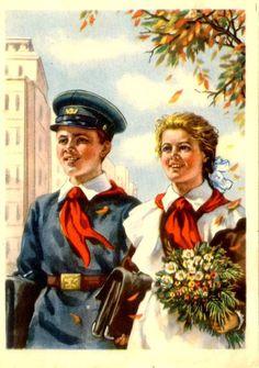 Gallery.ru / Фото #9 - Здравствуй, школа! Старые советские открытки. - Anneta2012