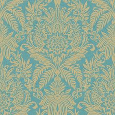 Signature Teal & Gold wallpaper by Crown