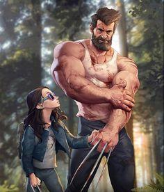 Wolverine Old Man Logan + Laura Marvel Dc Comics, Heros Comics, Marvel Wolverine, Hq Marvel, Logan Wolverine, Bd Comics, Marvel Heroes, Rogue Comics, Disney Marvel