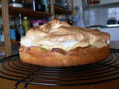 Gâteau à la rhubarbe et meringue