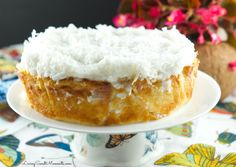 This Sinful Coconut Cake recipe is made in a slow cooker so it does not need any kind of babysitting at all. Perfect dessert for a busy celebration. Crock Pot Bread, Crock Pot Cooking, Crock Pots, Cake Recipes, Dessert Recipes, Dessert Ideas, Snacks Recipes, Bread Recipes, Healthy Snacks
