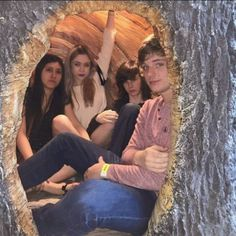 Chandler Riggs, Brianna Maphis, and their friends