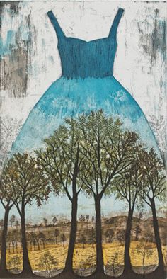Saarnilehto (Ash Grove) Etching on Paper Art Painting, Photo Art, Amazing Art, Dress Painting, Tree Painting, Collage Art Mixed Media, Visual Art, Collage Art, Landscape Drawings