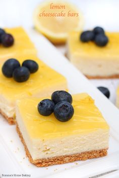 ... lemon cheesecake bars are topped with a thin layer of lemon glaze and