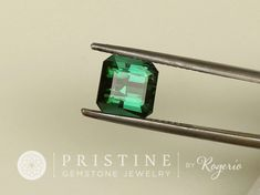 Blue Green Tourmaline 2.81 cts Square October by PristineGemstones
